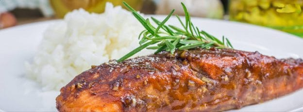 Sticky Salmon with Mango Slaw Recipe