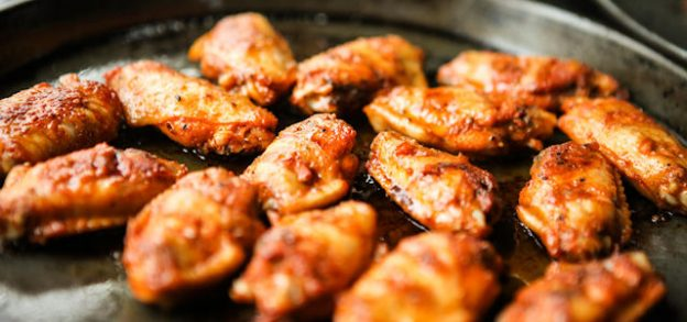 Jerked Wings with a Honey Rum Glaze