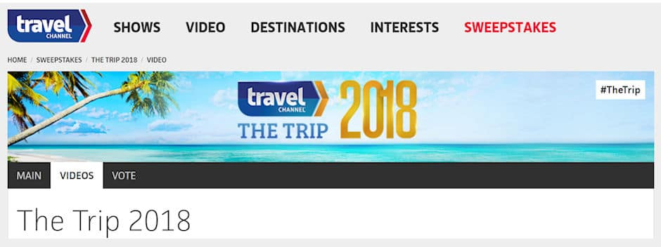 The Travel Channel - The Trip 2018