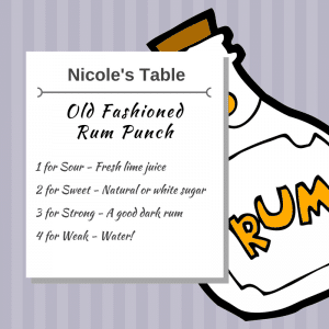 Nicole's Old Fashioned Rum Punch